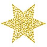从不同的圣诞节标志形成的星 免版税库存图片