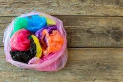 不同的塑料袋 免版税库存图片