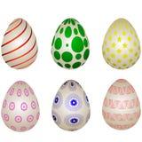 不同的复活节彩蛋设置了 免版税图库摄影