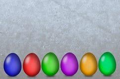不同的复活节彩蛋 免版税库存图片