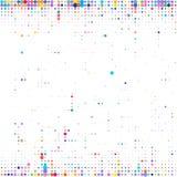不同的大小五颜六色的小点背景在白色的 库存例证