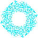 不同的大小和形状三角抽象圈子  蓝色云彩图象彩虹天空向量 皇族释放例证