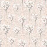 不同的大小抽象花和叶子玫瑰和等高  皇族释放例证