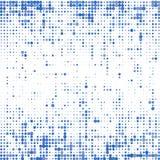 不同的大小蓝色小点背景在白色的 库存例证