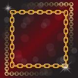 不同的大小金链子  图库摄影