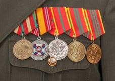 不同的奖和奖牌 免版税图库摄影