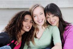 不同的孩子十几岁 免版税库存图片