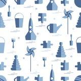 不同的孩子玩具对象的传染媒介样式:火箭,难题, b 库存照片