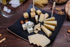 不同的干酪 库存图片