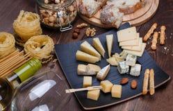 不同的干酪 库存照片