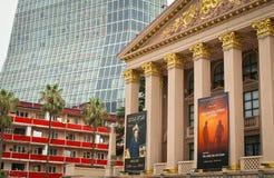 不同的建筑风格在巴统 免版税库存照片