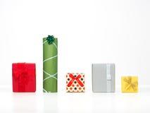 不同的形状的生日礼物 免版税库存图片