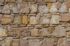 不同的形状石头议院墙壁  库存照片