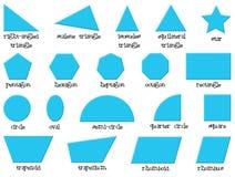 不同的形状 库存照片