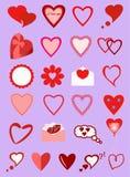不同的心脏的图象 免版税库存图片