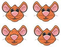 不同的情感老鼠 免版税图库摄影