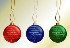 不同的愉快的语言新年度 免版税库存照片