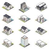 不同的房子等量象集合 免版税库存图片