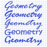 不同的手几何在笔记本板料的 免版税图库摄影