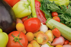 不同的新鲜蔬菜 免版税库存照片