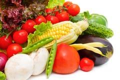 不同的新鲜蔬菜 免版税库存图片