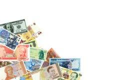 不同的时期世界的钞票  免版税图库摄影