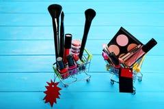 不同的构成化妆用品 免版税库存图片
