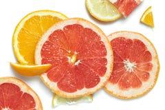 不同的果子被设置的片式 库存照片