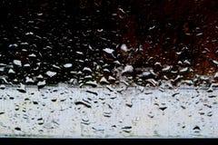 不同的树荫背景与水下落的在雨以后 库存图片