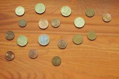 不同的欧洲货币硬币 库存图片