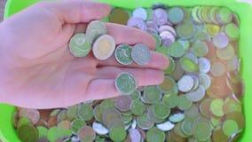 不同的状态许多硬币  股票录像