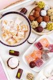 不同的甜点的分类 免版税图库摄影