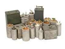 不同的电容器。查出。 库存图片