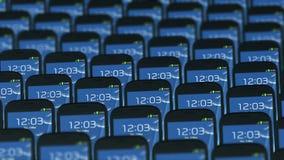 不同的电话不同地移动圈 向量例证