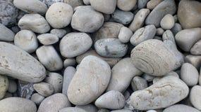不同的石头在大小上和图 免版税库存照片