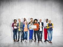 不同的种族企业职业快乐的变异概念 库存照片
