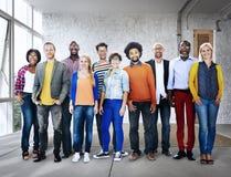 不同的种族企业职业快乐的变异概念 库存图片
