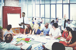 不同的种族企业职业快乐的变异概念 免版税库存照片