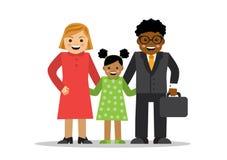 不同的种族混杂的家庭  皇族释放例证