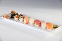 不同的种类镀寿司 免版税图库摄影