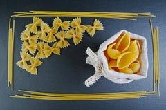 不同的种类食品成分面团、广告的概念的背景,图象在餐馆或市场,地方 库存图片