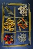 不同的种类食品成分面团、广告的概念的背景,图象在餐馆或市场,集合 图库摄影