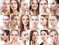 不同的美丽的妇女大拼贴画  库存照片
