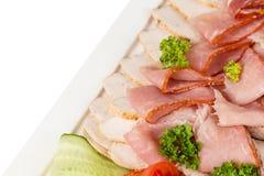 不同的肉开胃菜和快餐 图库摄影