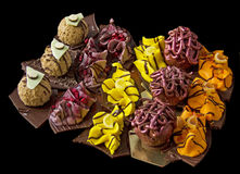 不同的自创甜点 免版税库存图片