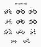 不同的自行车 免版税库存照片