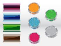 不同的色的按钮 图库摄影