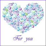 不同的蓝色宝石的心脏 免版税库存照片