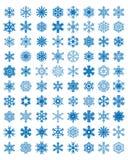 不同的蓝色雪花 免版税库存照片