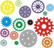 不同的表单齿轮被设置的向量 免版税库存图片